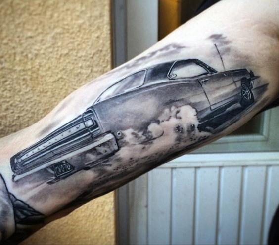 70 car tattoos for men cool automotive design ideas draws. Black Bedroom Furniture Sets. Home Design Ideas